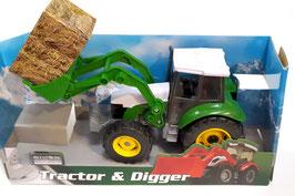 Tractor con Excavadora