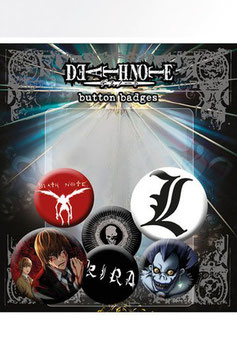 Pack de 6 chapas Death Note Mix
