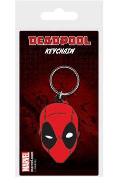Llavero de Caucho de Cara de Deadpool
