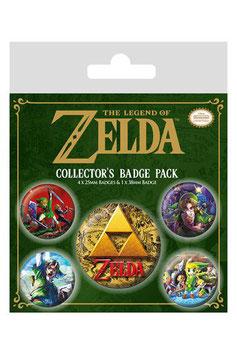 Pack de 5 Chapas La Leyenda de Zelda Clásica