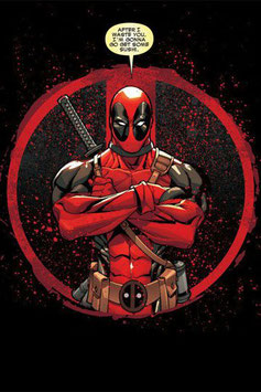 Póster de Metal Marvel Comics Deadpool Merc