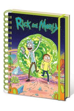 Libreta Portal Rick y Morty A5