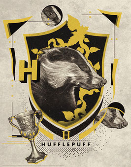 Litografía Hufflepuff 36x28CM