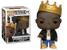 Notorious B.I.G. con corona