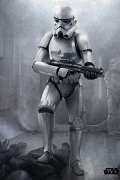 Póster de Metal Episodio IV Stormtrooper (10x14cm)