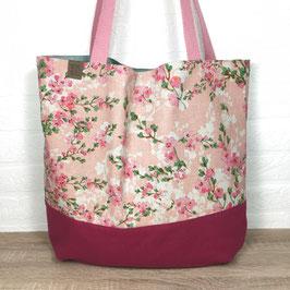 """Einkaufsbeutel """"Rosa Blütentraum"""""""