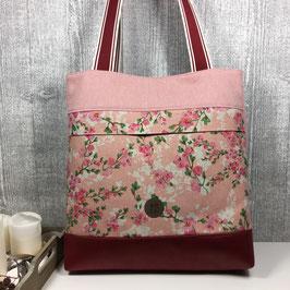 """Schultertasche """"Rosa Blütentraum"""""""