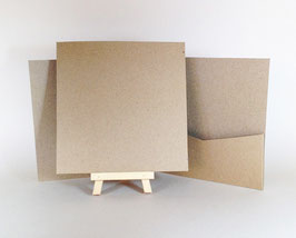 Pocket Flapless Book (14,5x14,5) NATURAL KRAFT
