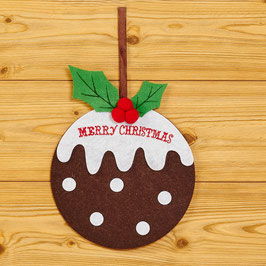Decorazione per porta - Christmas pudding