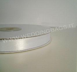 Nastro raso Bianco 10mmx50mt