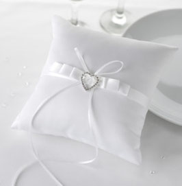 "Cuscino per anelli ""White Heart"""