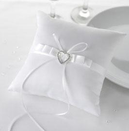 """Cuscino per anelli """"White Heart"""""""