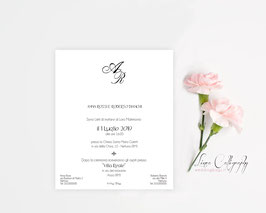 "Invito SINGOLO - DESIGN 11 ""Calligraphy"""