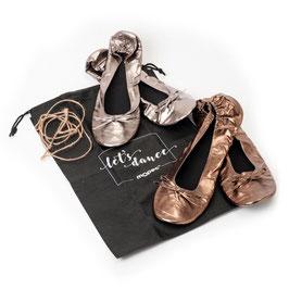 Ballerine Pieghevoli - Argento e Rame (ass.) c/Borsa scarpe