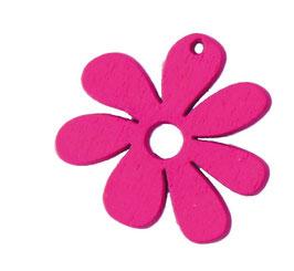 Fiore in legno - conf. 10pz (vari colori)