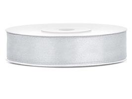 Nastro raso ARGENTO 12mmx25mt