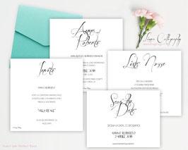 """Inviti 13.5x13.5 DESIGN 1 """"Calligraphy"""""""