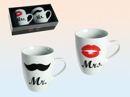 "Mug set ""Mr&Mrs"""