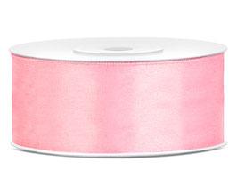 Nastro raso ROSA CHIARO 25mmx25mt