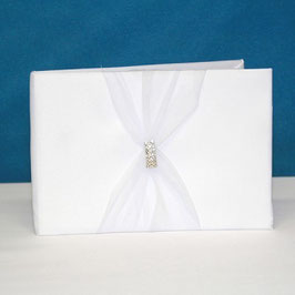 "Guestbook ""Strass"" Bianco"
