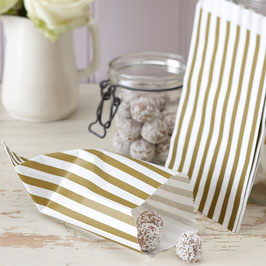 Sweet Candy Bags (25pz) - Gold & Ivory