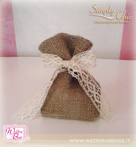 "Sacchetto in Juta Romance ""Simply Chic"""