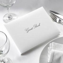 Guest Book Elegant - Bianco / Argento