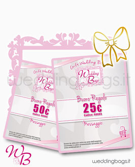 "Gift Card ""Wedding Bags"""