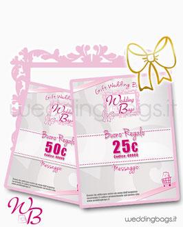 "Gift Card ""Wedding Bags"""