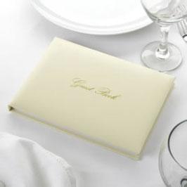 """Guestbook """"Elegant"""" Avorio / Oro"""