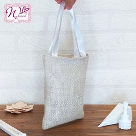 Wedding Bags Mini in Juta Bianca- Simply Chic