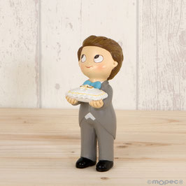 Cake Topper Bimbo c/cuscino fedi
