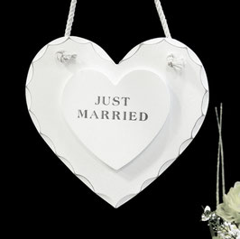"Cuore in Legno ""Just Married"""