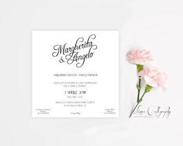 """Inviti 13.5x13.5 DESIGN 9 """"Calligraphy"""""""