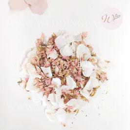 Petali Mix - Ortensie Bianche e petali rosa