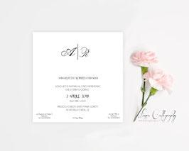 """Inviti 13.5x13.5 DESIGN 4 """"Calligraphy"""""""