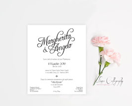 "Invito SINGOLO - DESIGN 9 ""Calligraphy"""
