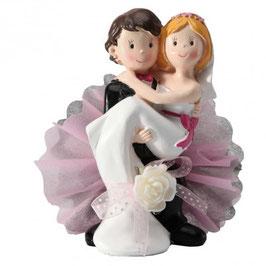 """Cake Topper """"Sposa in braccio"""""""