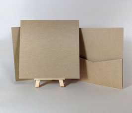Pocket Flapless Book (14,5x14,5) KRAFT QUALITY