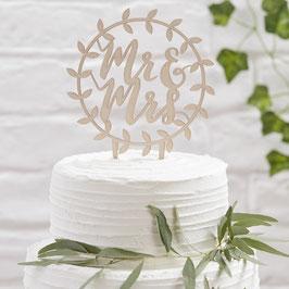 Cake Topper Legno - Mr&Mrs