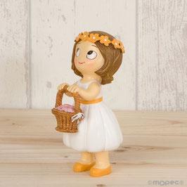 Cake Topper Bimba c/cestino fiori