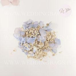 Mix Petali - Ortensie Azzurro polvere e petali avorio