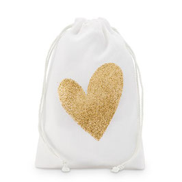 "Mini Bags ""Gold Glitter Heart"""