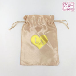 "Mini Bag in Raso ""Cuore e Iniziali"""