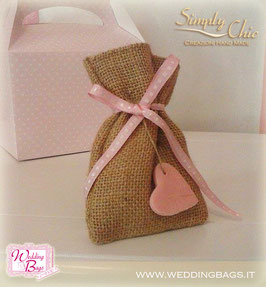 "Sacchetto in Juta Lovely ""Simply Chic"""