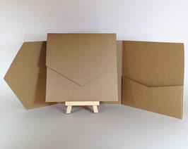 Pocket Perfect Book - Kraft 14,5x14,5cm