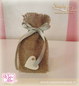 "Sacchetto in Juta Rustic ""Simply Chic"""