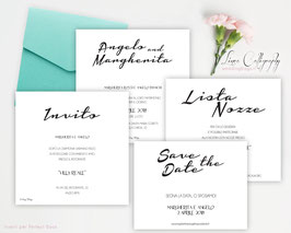 """Inviti 13.5x13.5 DESIGN 10 """"Calligraphy"""""""