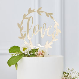 Cake Topper Gold - LOVE