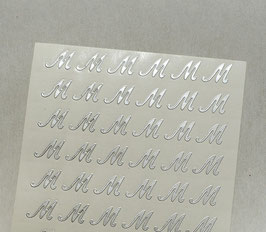 "Lettera ""M"" adesiva Argento"